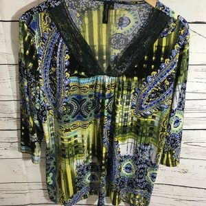 Very Comfortabe Suzan Lawrence Size 1x Top